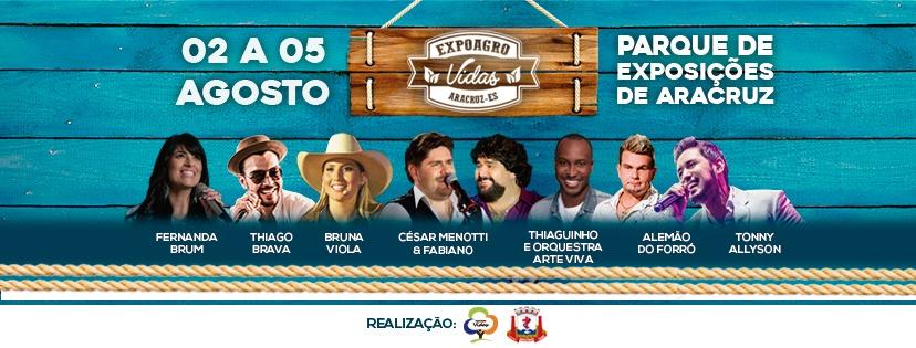 ExpoAgro Vidas 2018 em agosto, no Parque de Exposições de Aracruz